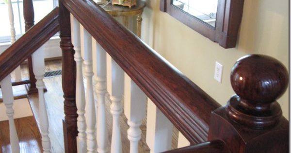 Staining Oak Banister with Polyshades
