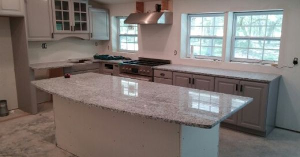 Our Grey Kitchen Cabinets And Luna Pearl Granite In So Far