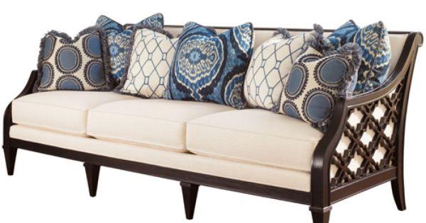 Lx 1514 33 Tommy Bahama Royal Kahala Bay Club Sofa Wood Sofa Sofa Furniture Tommy Bahama Furniture
