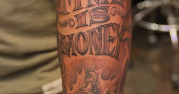 Time is money tattoos pinterest money for Time is money tattoo