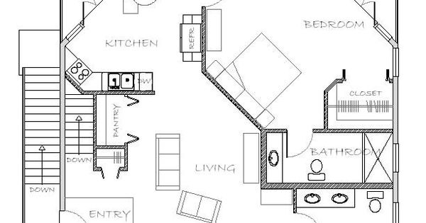 Mother In Law Apartment Plan Small Spaces Pinterest