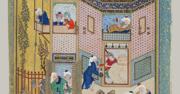 Allegory of worldly and otherworldly drunkenness page for Divan of hafiz