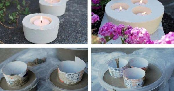teelichthalter aus feinbeton selber machen beton pinterest feinbeton teelichthalter und. Black Bedroom Furniture Sets. Home Design Ideas