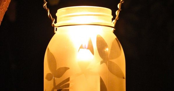 frosted mason jar lights