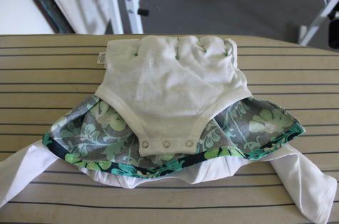 DIY onsie dress (flip inside out, and sew, method) - so simple