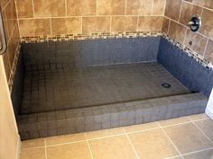 How To Make A Concrete Shower Pan With Images Concrete Shower