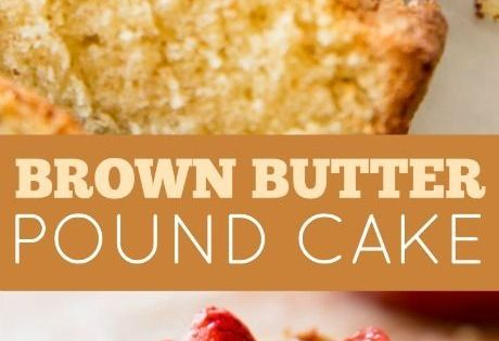 Brown Butter Pound Cake with Strawberry Compote | Recipe | Pound Cakes ...