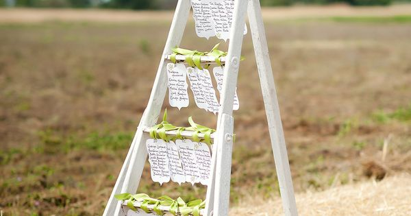 shabby chic Ladder table plan