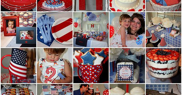 red, white and TWO!- i LOVE, LOVE, LOVE this party idea... wish