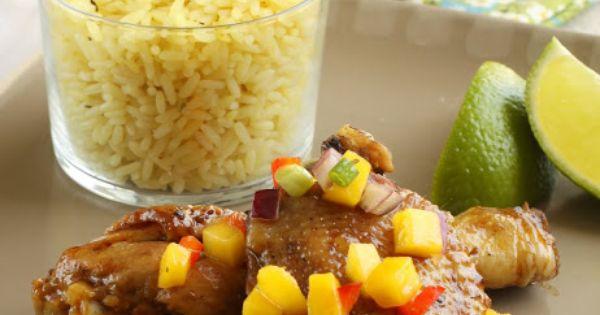 Cuisine antillaise poulet a la jamaicaine avec salsa de - Cuisine creole antillaise ...