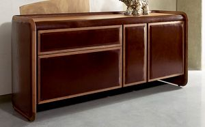 Leather Upholstered Sideboard Credenza If10010 With Images