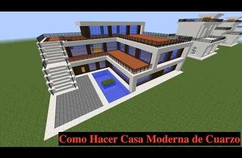 Como hacer una casa moderna en minecraft pt1 youtube for Mirote y blancana casa moderna