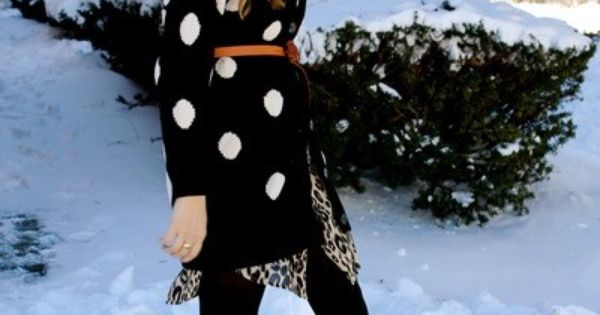 Cute winter outfit with giant polka dots!