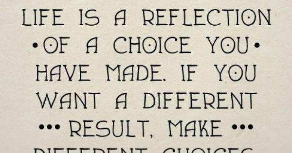 Life choices...