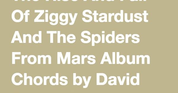 Guitar guitar chords ziggy stardust : 1000+ images about The Rise And Fall Of Ziggy Stardust And The ...