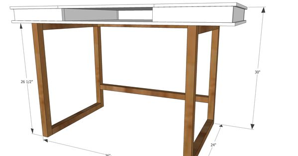 Ana white build a modern 2x2 desk base for build your for Design my own furniture online free