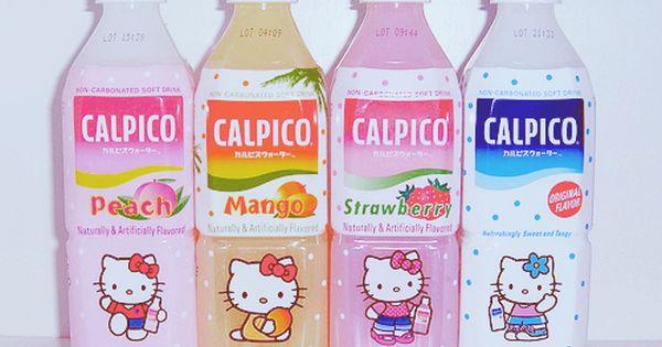 Japan Japanese Drink Calpico Calpis Hello Kitty Peach Mango Strawberry Japanese Drinks Hello Kitty Hello Kitty Tumblr
