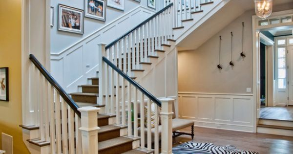 Traditional Spaces Craftsman Staircase Design Pictures Remodel