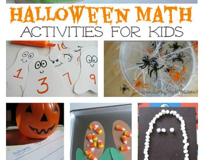 Lots of fun math ideas for Halloween. { How do you make