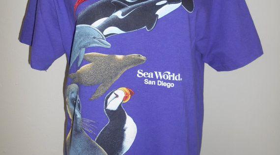 vintage 80s 1987 sea world san diego t shirt t shirt