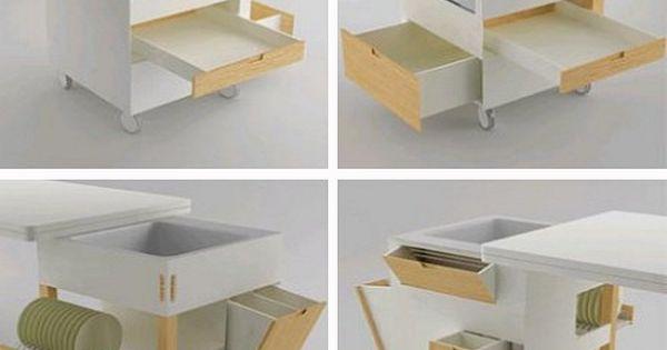 10 trucos para cocinas peque as mueble multifuncion de for Muebles rubi