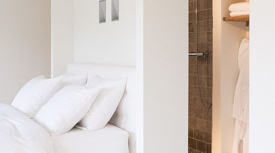 Badkamer en slaapkamer op zolder badkamer interieur pinterest design badkamer - Lay outs badkamer ...