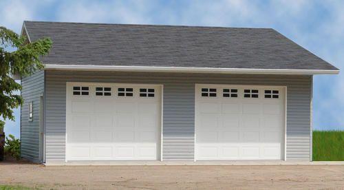 22 39 w x 24 39 l x 10 39 h 2 car low maintenance at menards under for 20x24 garage kit