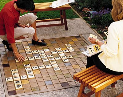 "How fun! Outdoor scrabble ""I like areas of double use,"" says Sacramento"