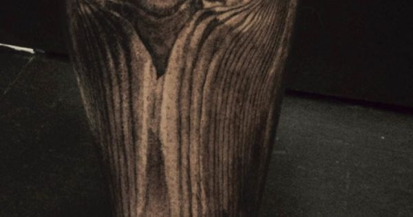 Unbelievable Wood Grain Tattoo By David Allen