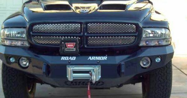 Yes To All The Hood Bumper W Winch Grille Insert Dodge Dakota Dodge Dakota Lifted Pickup Truck Accessories
