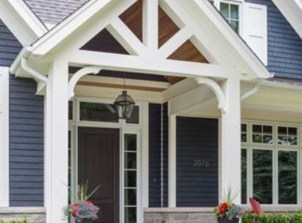 Front Gable Roof That Overs A Porch For The Home
