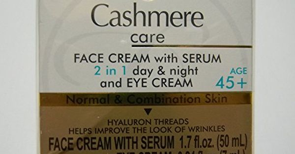 Cashmere Care Face Cream With Serum 2 In 1 Day Night And Eye Cream