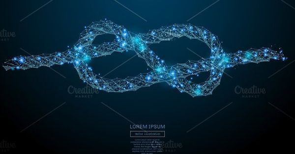 knot low poly blue by Anton Khrupin on @creativemarket