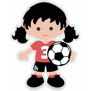 Silhouette Design Store Soccer Girl Circus Crafts Soccer Girl Cute Clipart
