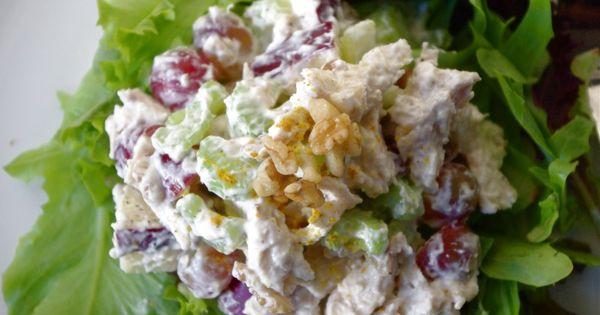 Waldorf salad, Skinny chicken and Chicken on Pinterest