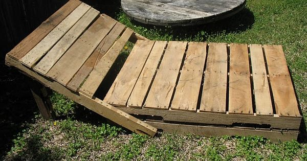 Pallet lounger creations bois palettes recup for Recup palette jardin