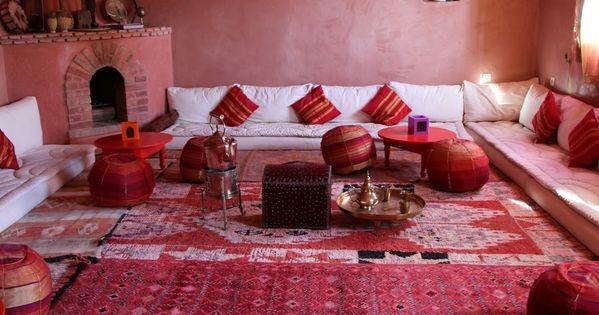Salon marocain deco pinterest d coration de maison boh me et inspiration - Maison porcelaine maroc ...