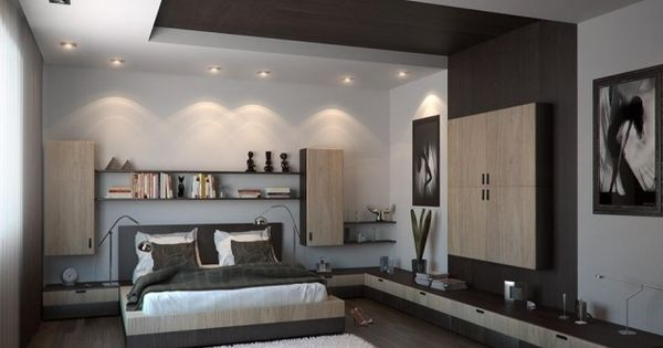 faux plafond blanc et l gant avec spots led encastr s. Black Bedroom Furniture Sets. Home Design Ideas