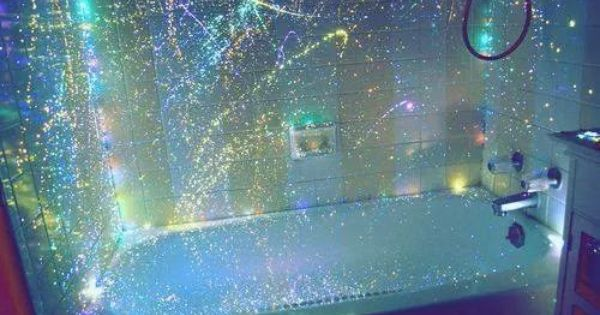 Diy Glow In The Dark Shower Curtain Simply Buy A Clear Plastic