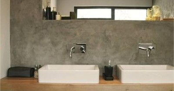 Timber vanity on concrete wall   bathroom design. 10 Best images about Timber on Pinterest   Concrete walls  Spa