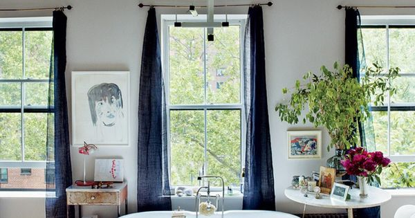wow. dream bathroom. bliss blog - my happy place... VOGUE: Miranda Brooks and