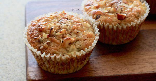 Pear hazelnut protein muffin | baked goods | Pinterest | Protein ...