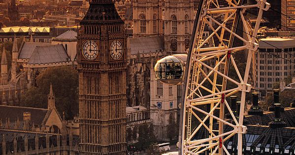 The London Eye is a work of modern architecture in a city