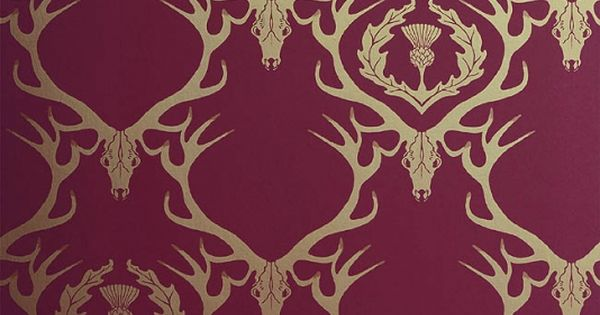 wallpaper deer damask - photo #23