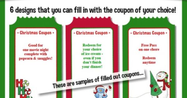 create your own christmas coupons