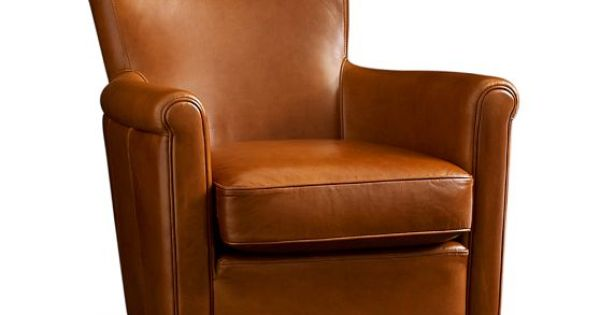 Irving Leather Swivel Armchair Pottery Barn Chairs
