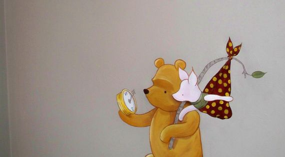 Estimate for classic winnie the pooh nursery mural please for Classic pooh nursery mural