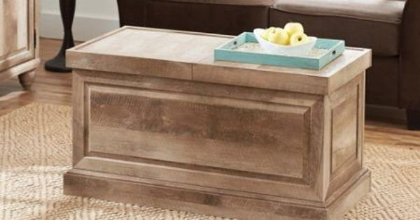 Better Homes And Gardens Crossmill Collection Coffee Table Weathered Family Room Top Opens