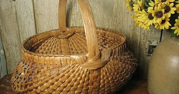 Gathering Basket Making Materials : Splint gathering basket love baskets have collected