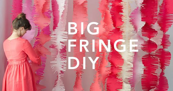 big fringe garlands party decorations- photo booth